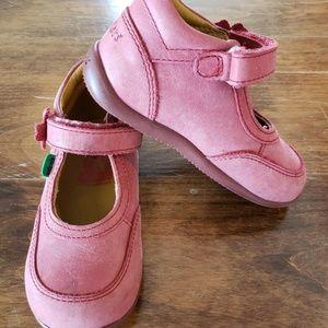 Toddler Girl Kickers Booties Straps Pink Rose
